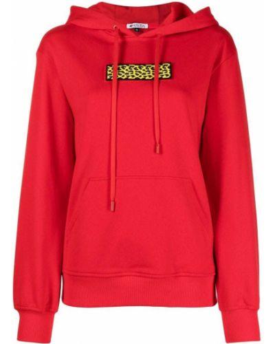 Прямое красное худи с карманами Krizia