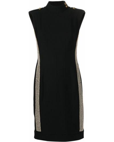 Золотистое черное платье без рукавов Pinko