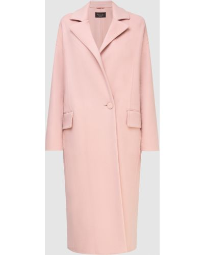 Розовое кашемировое пальто Loro Piana