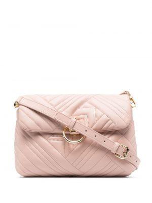Кожаная сумка - розовая Pinko