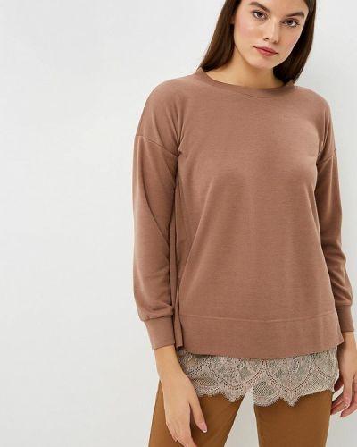 Коричневая блузка с длинным рукавом Fashion.love.story