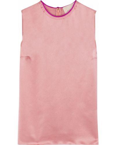 Różowy satynowy top Roksanda