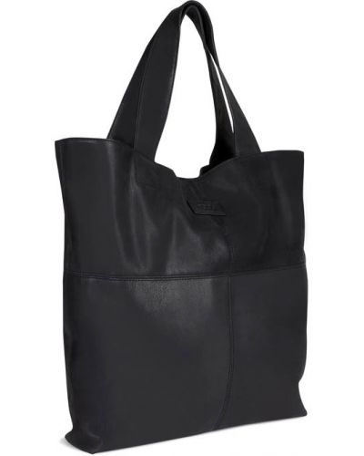 Кожаная сумка шоппер черная Ecco