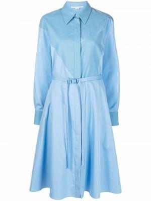 Платье макси с длинными рукавами - синее Stella Mccartney