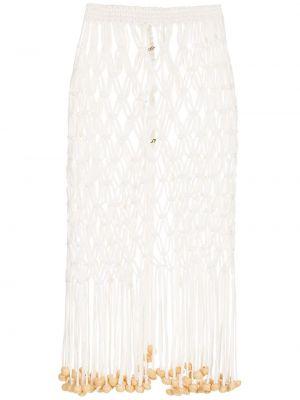 Белая юбка из полиэстера НК
