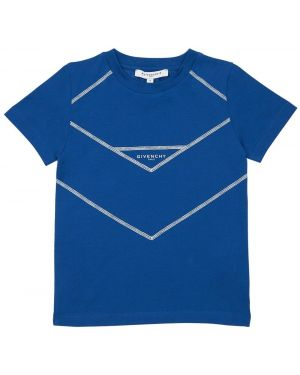 Трикотажная футболка с вырезом с принтом Givenchy