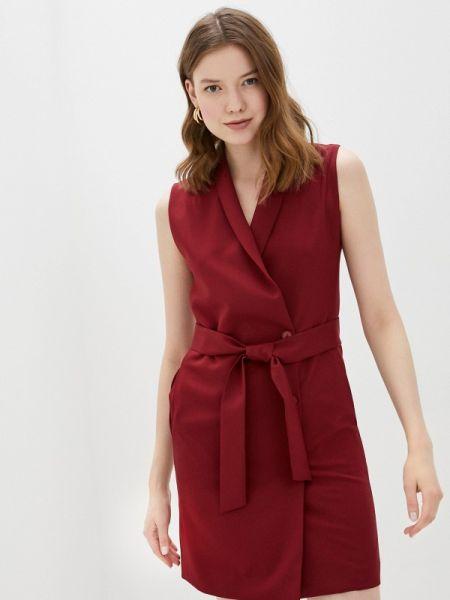 Платье бордовый платье-пиджак Fashion.love.story