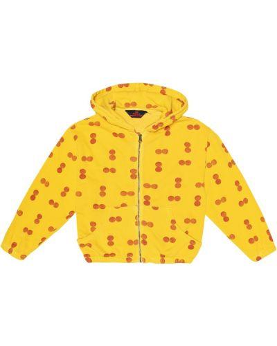 Bawełna bawełna żółty bluza z kapturem The Animals Observatory