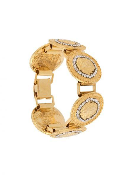 Złota bransoletka ze złota z printem Versace Pre-owned