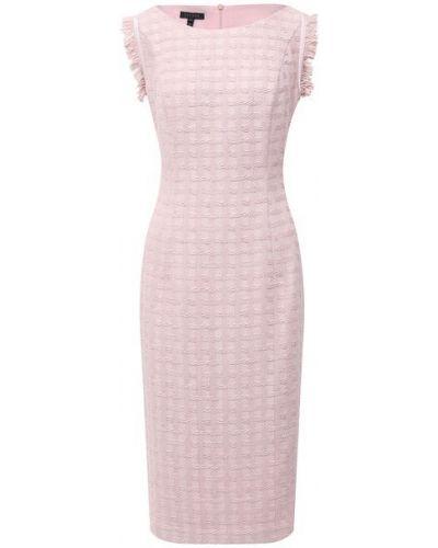 Хлопковое розовое платье с подкладкой Escada