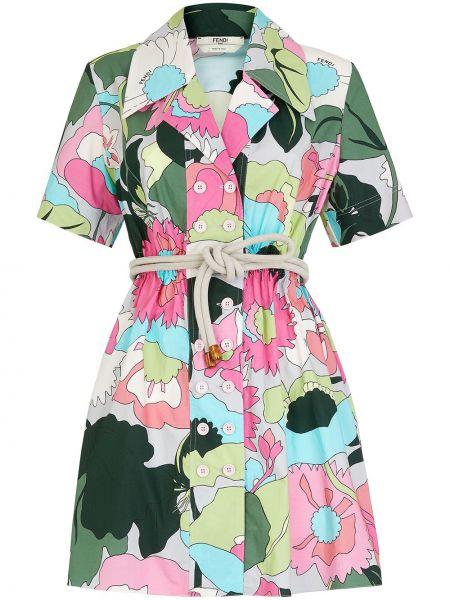 Кожаное платье Fendi