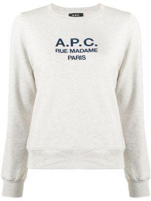 Sweter bawełniany z długimi rękawami A.p.c.