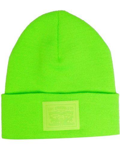 Вязаная шапка бини - зеленая Levi's®
