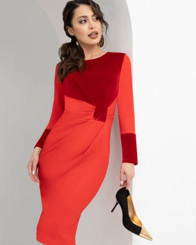 Вечернее платье длинное - красное Charutti