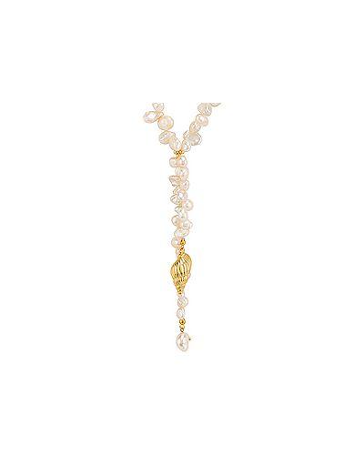 Ожерелье с жемчугом позолоченное зеленый Amber Sceats