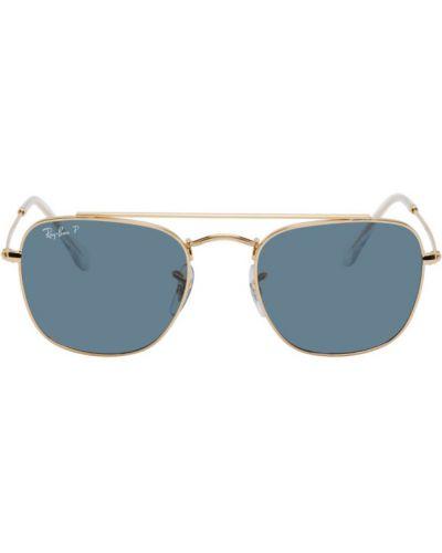 Синие солнцезащитные очки прозрачные квадратные Ray-ban