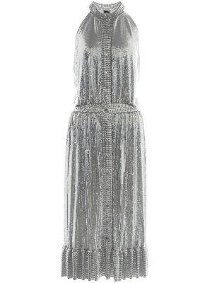 Платье миди деловое с цепочкой Paco Rabanne