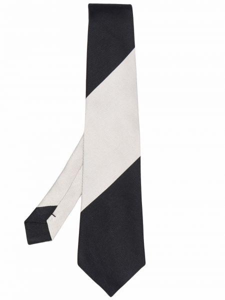 Czarny krawat z jedwabiu w szpic Comme Des Garcons Homme Deux