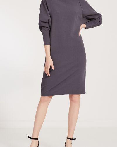 Платье миди однотонное - серое Cyrille Gassiline