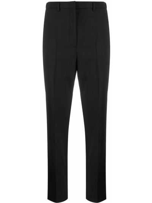 Прямые черные укороченные брюки с карманами Incotex