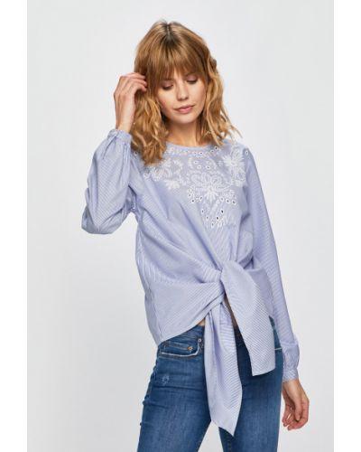 Блузка с вышивкой синяя Answear