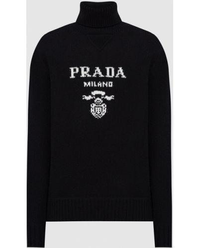 Черный кашемировый свитер Prada