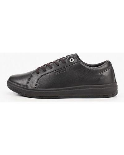 Кожаные черные низкие кеды Tommy Hilfiger