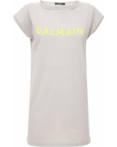 Трикотажное платье - серое Balmain