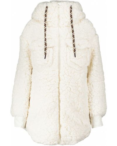 Куртка из искусственного меха - белая Goldbergh