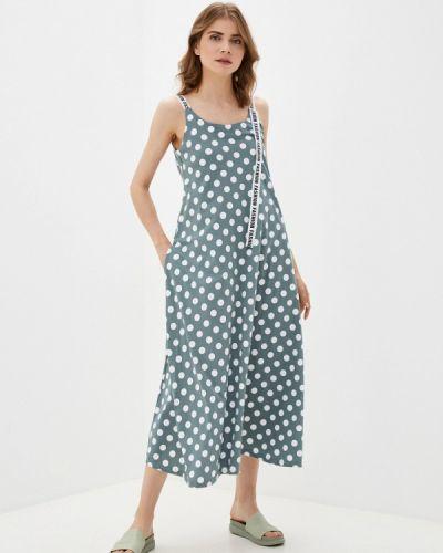 Бирюзовое платье осеннее Winzor
