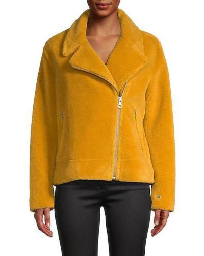 Шерстяная длинная куртка с подкладкой байкерская Soia & Kyo