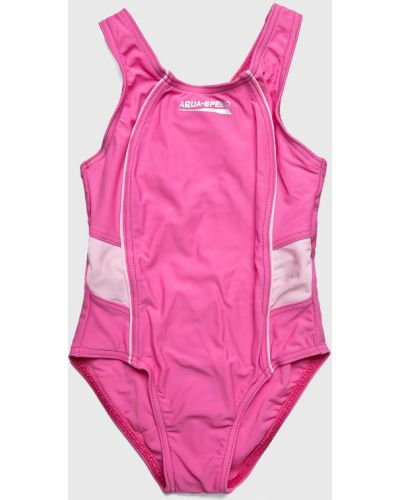Слитный купальник розовый эластичный Aqua Speed