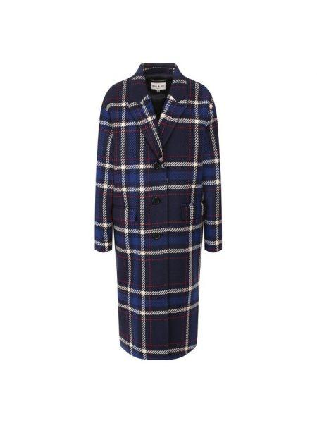 Шерстяное пальто - синее Paul&joe