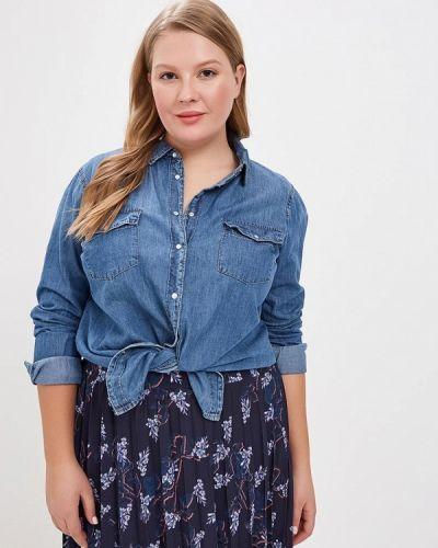 Синяя джинсовая рубашка с запахом Lost Ink Plus