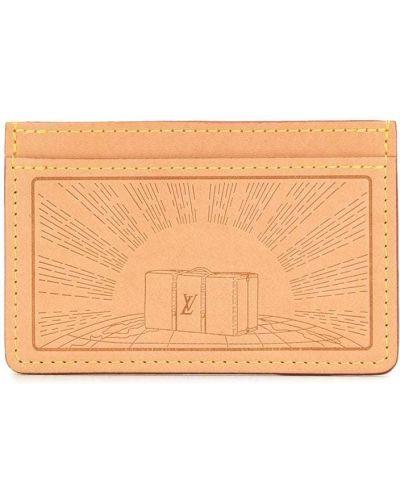 Brązowy skórzany kąpielówki z kieszeniami Louis Vuitton