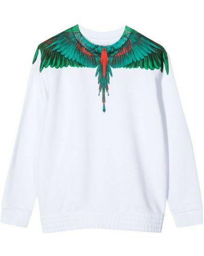Biały sweter bawełniany Marcelo Burlon