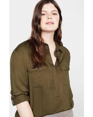 Блузка с длинным рукавом зеленый хаки Violeta By Mango
