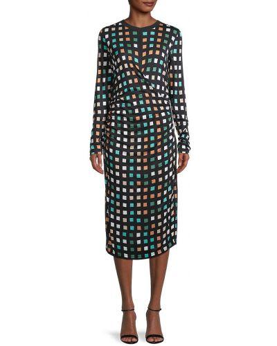 Платье макси с длинными рукавами Boss Hugo Boss