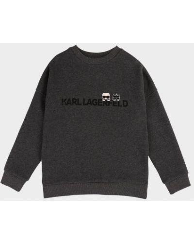 Брендовый текстильный свитер Karl Lagerfeld