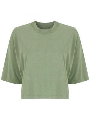 Хлопковая футболка - зеленая Osklen