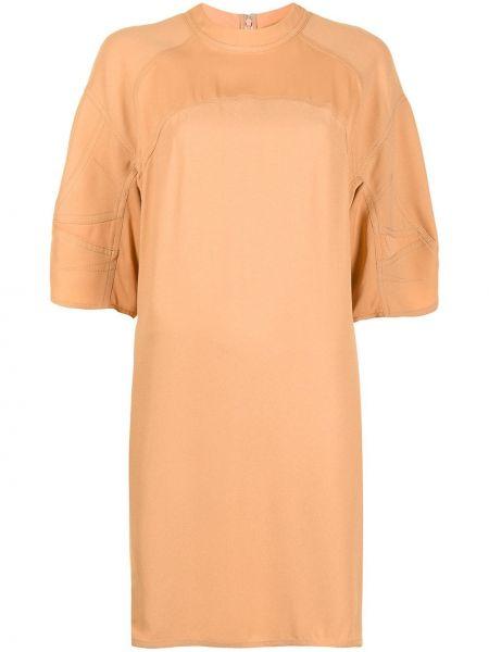 Платье мини короткое - коричневое Stella Mccartney