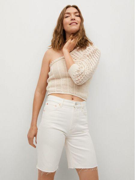 Szorty jeansowe - białe Mango