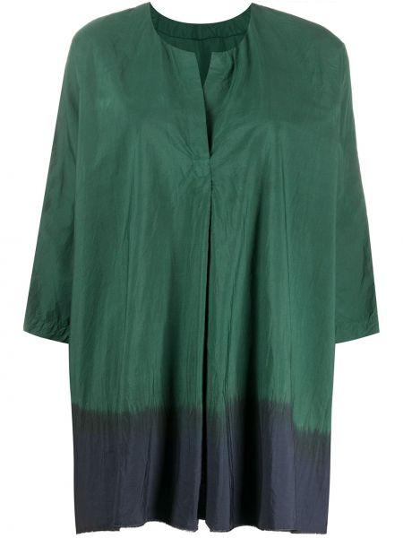 Зеленый топ свободного кроя с круглым вырезом круглый Daniela Gregis