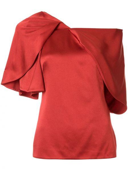 Koszula krótki rękaw z wiskozy asymetryczna Peter Pilotto