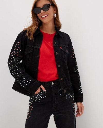 Джинсовая куртка черная осенняя Levi's®