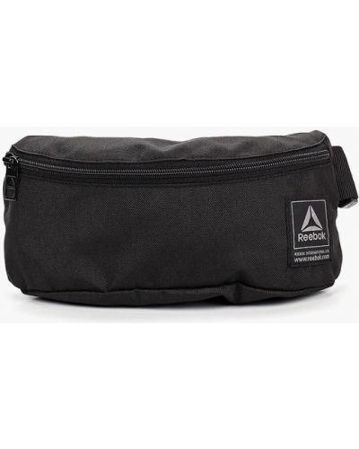 Поясная сумка текстильная черная Reebok