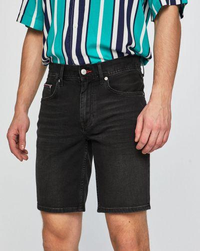 Джинсовые шорты с карманами черные Tommy Hilfiger