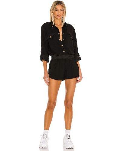 Черный ромпер с карманами Yfb Clothing
