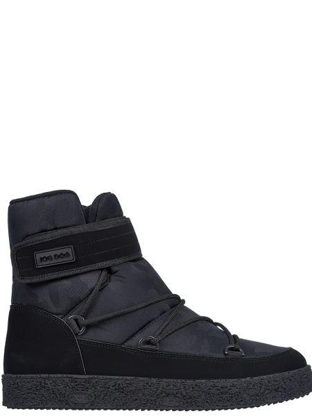 Текстильные черные ботинки Jog Dog