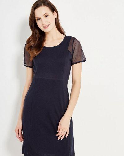 Синее прямое платье Relax Mode